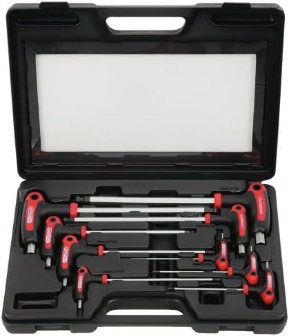 KS-Tools 151.8150-9 tlg T-Griff Innensechskant Stiftschlüsselsatz 2-12mm
