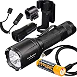 Fenix Tk25 IR (TK25IR) 1000 Lumen LED 3000mW 850nm Infrared Tactical Flashlight with 2600mAh USB Rechargeable Battery,Charging Cable,ALG 00 Mount, AER-03 Pressure Switch,car Charger