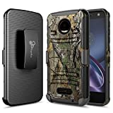 Moto Z Force Case, Moto Z Force Droid Case, NageBee [Heavy Duty] Armor Shock Proof Dual Layer [Swivel Belt Clip] Holster with [Kickstand] Combo Rugged Case for Motorola Moto Z Force Droid -Camo