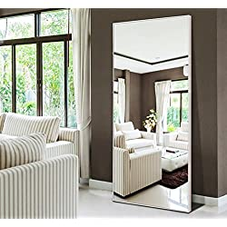 "Hans&Alice Full Length Bedroom Floor Leaner Mirror,Free Standing Dressing Mirror 65""x22"""