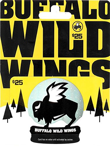 Buffalo Wild Wings Holiday Gift Card $25 (Best Buffalo Wild Wings Food)