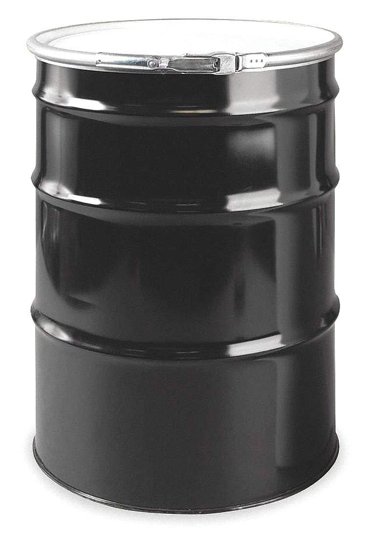 Transport Drum, Open Head, 55 gal., Black