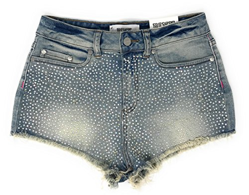 Victoria's Secret Pink Denim Shorts 6 Rainbow Rhinestone Cheeky (Rainbow Denim Shorts)