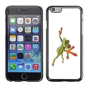 Carcasa Funda Prima Delgada SLIM Casa Case Bandera Cover Shell para Apple Iphone 6 / Business Style Orange Jungle Frog