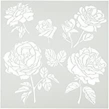"""Crafters Workshop Cabbage Roses Crafter's Workshop Template, 6 by 6"""""""