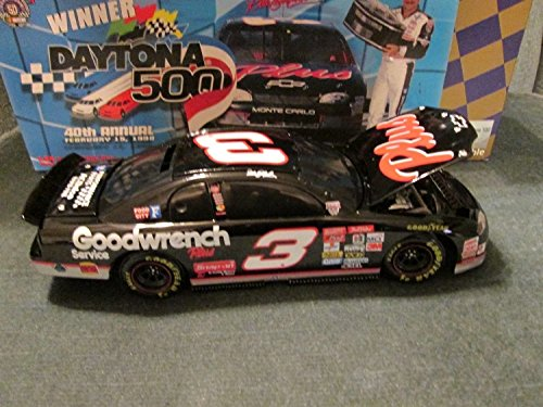 Dark Window Car Bank Dale Earnhardt #3 1998 (Paint Scheme Ran in the Daytona 500 Win) GM Goodwrench Plus 1/24 Hood Opens Trunk Opens Action Racing Collectables ARC Limited Edition