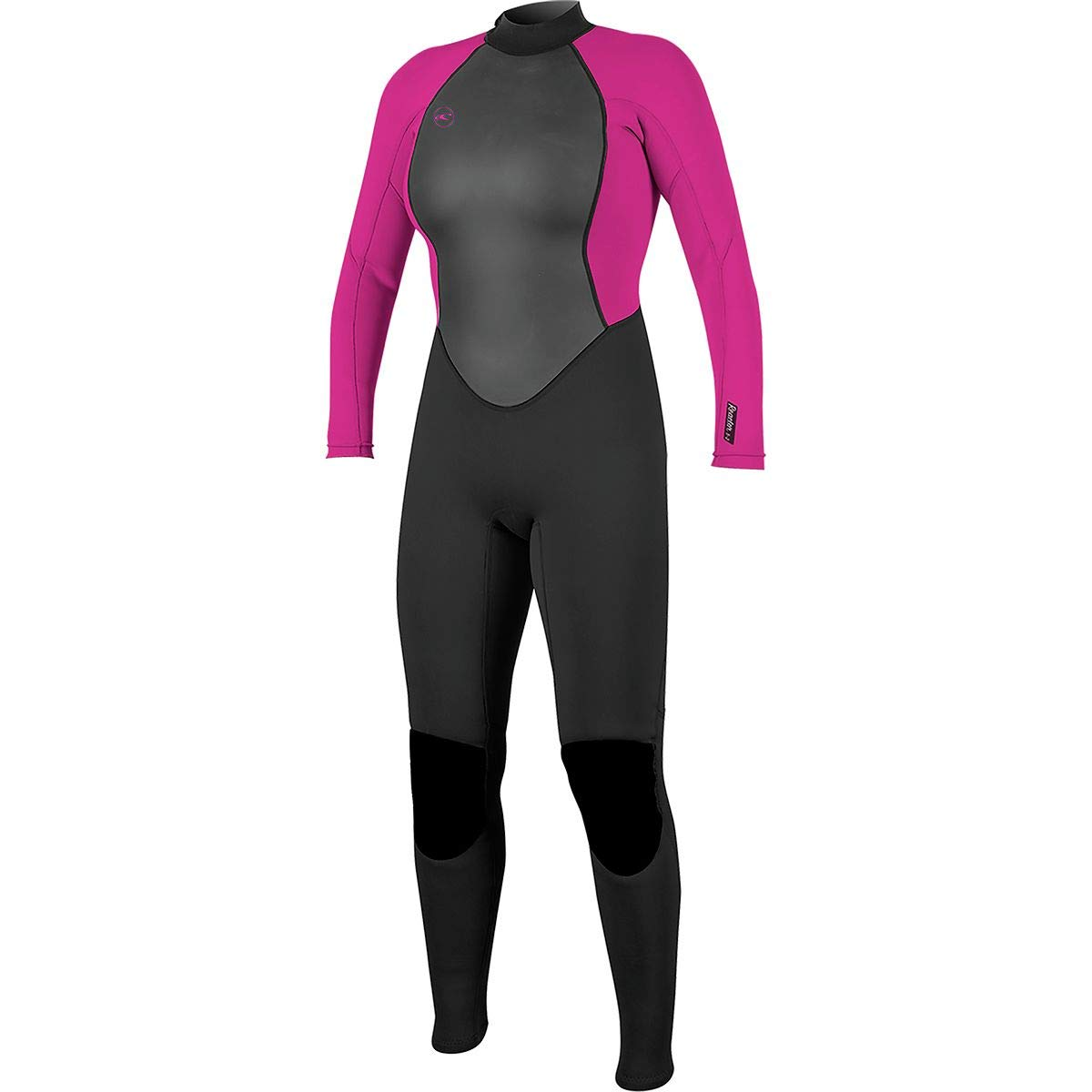 O'Neill Women's Reactor-2 3/2mm Back Zip Full Wetsuit, Black/Berry, 4