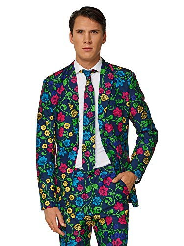Suitmeister Halloween Costumes for Men – Floral - Include Jacket Pants & Tie -