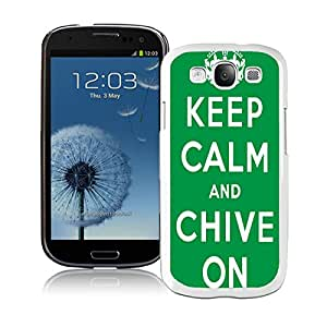 Chive On White For Samsung Galaxy S3 i9300 Case Genuine and Cool Design