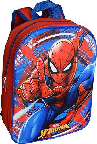 """Marvel Spiderman 15"""" School Bag Backpack (Red-Blue)"""