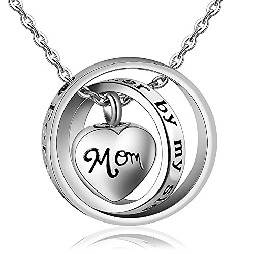 starton No longer By My Side Forever In My Heart Memorial Keepsake Locket Ashes Urn Necklace For Mom&Dad&Grandpa&Grandma&Uncle&Aunt Cremation jewelry (Mom Heart Locket Necklace)