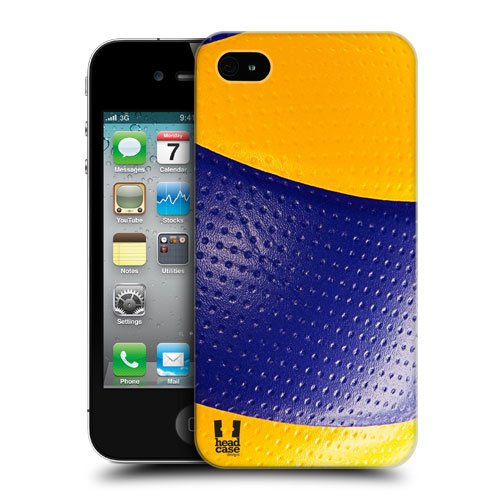 Head Case Designs Volleyball Ball Collection Protective Snap-on Hard Back Case Cover for Apple iPhone 4 4S