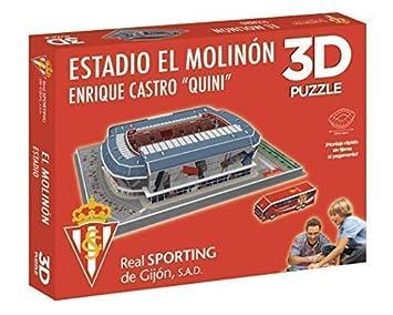 Eleven Force Puzzle Estadio 3D El Molinón (Sporting Gijón) (10803), Multicolor (1)