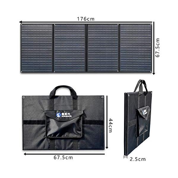 51BdpLzlqLL XINPUGUANG 200W (50Wx4pcs) 20V faltbares Solarpanel-Ladegerät MonoCrystalline Silicon Optional für Camper Zelt Wohnmobil…