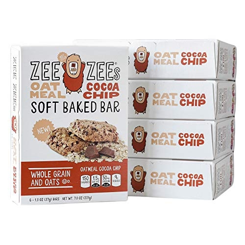 - Zee Zees Oatmeal Cocoa Soft Baked Snack Bars, Nut-Free, Whole Grain, Naturally Colored and Flavored,1.3 oz Bars, 30 pack