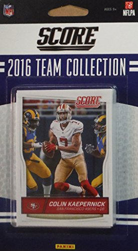 San Francisco 49ers 2016 Score EXCLUSIVE Factory Sealed Team Set with Blaine Gabbert, Colin Kaepernick, DeForest Buckner Rookie Card and many others