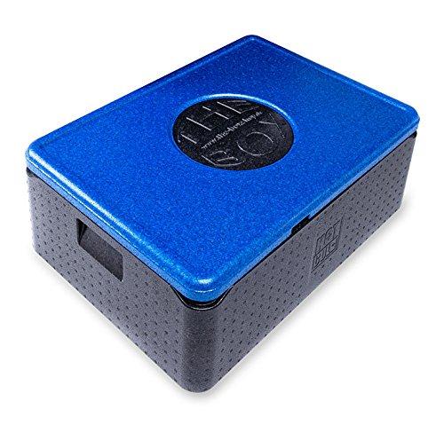 *2er Paket* - THE BOX Thermobox Universal mittel, Art. 79807; Deckelfarbe: blau, Außenmaß 68,5 x 48,5 x 26,5 cm, Innenmaß 62,5 x 42,5 x 20 cm, Nutzhöhe 20 cm, 53 l.