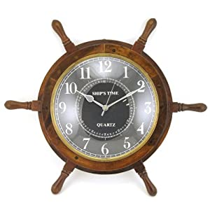 51Bdpaog3iL._SS300_ Best Ship Wheel Clocks