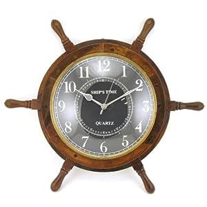 51Bdpaog3iL._SS300_ Coastal Wall Clocks & Beach Wall Clocks