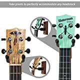 String Swing CC01UK - Ukulele / Mandolin Hardwood Wall Hanger for Home and Studio (Black Walnut Finish)
