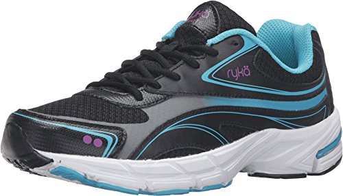Ryka Women's Infinite Smw Walking Shoe, Black/Blue, 8.5 M US by Ryka