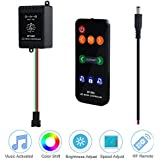 ALITOVE WS2812B LED Music Controller, Sound Activated Wireless RF Remote Dream Color LED Controller for WS2812B WS2811 WS2812 SK6812 SK6812-RGBW Individually Addressable Digital Programmable LED Strip
