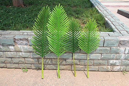 Pack of 4 Large Artificial Palm Tree Leaves 2.85 and 3.50 Feet for House Office Decor(1230#) by Youz