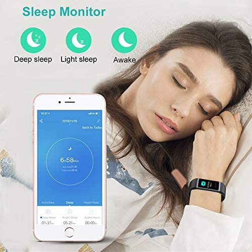 Willful Fitness Tracker 2020 New Version IP68 Waterproof, Fitness Watch Heart Rate Monitor with Calories/Step Counter Sleep Tracker Stopwatch Health Tracker Fit Watch for Men Women Kids 5