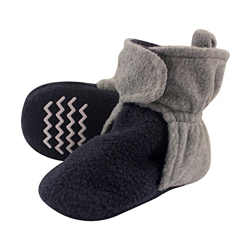 Hudson Baby Unisex Baby Cozy Fleece Booties, Navy Heather Gray, 18-24 Months (Otc Cold Medicine For 2 Year Old)