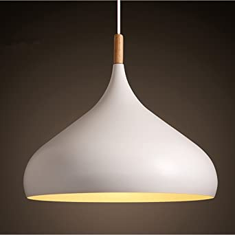 Ceiling lighting modern white metal pendant light shade chandelier ceiling lighting modern white metal pendant light shade chandelier lighting e27 base with wood aloadofball Image collections