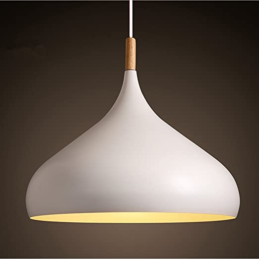 Ceiling lighting modern white metal pendant light shade chandelier ceiling lighting modern white metal pendant light shade chandelier lighting e27 base with wood aloadofball Gallery