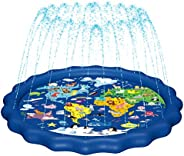 "MAGIFIRE Splash Pad, Sprinkler for Kids & Baby Pool 3-in-1 67"" Water Toys Gifts for 1 2 3 4 5 Year Ol"