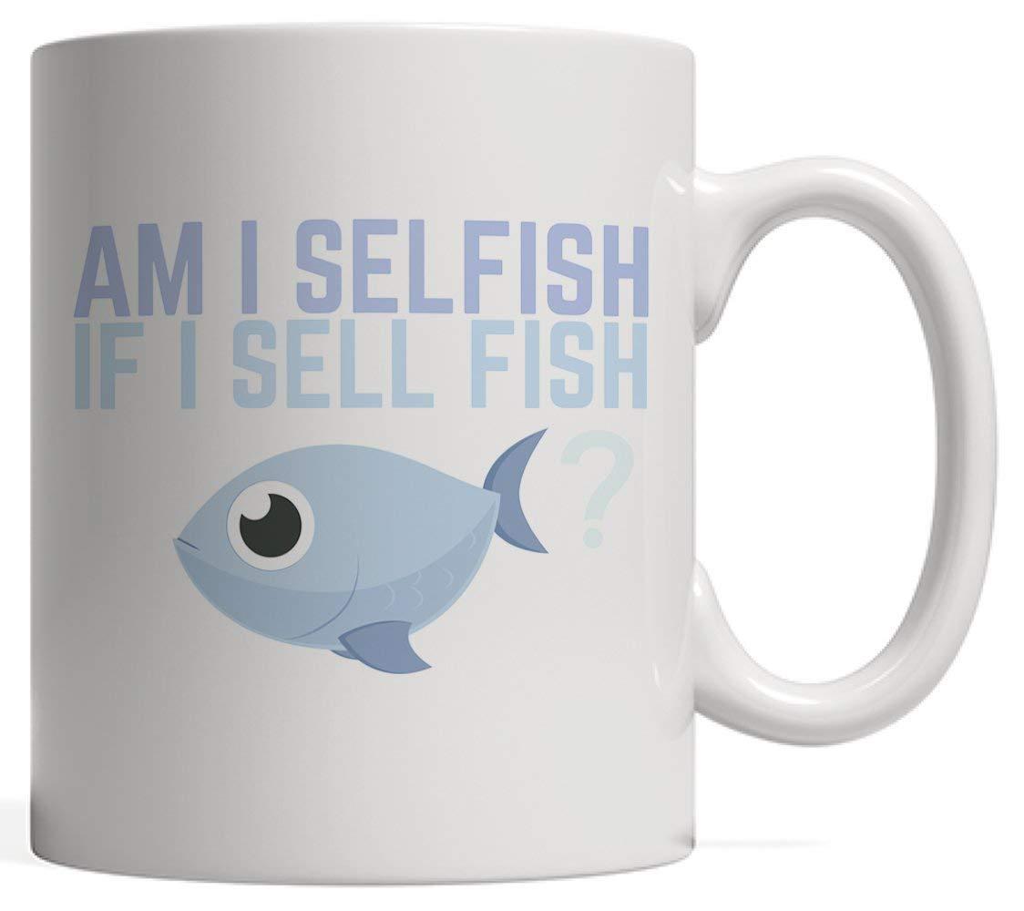 Soy egoísta si vendo pescado? Taza para pescador o pescadora que ...