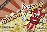 Bacon Pop Bacon Flavored Microwave Popcorn, 9 oz box
