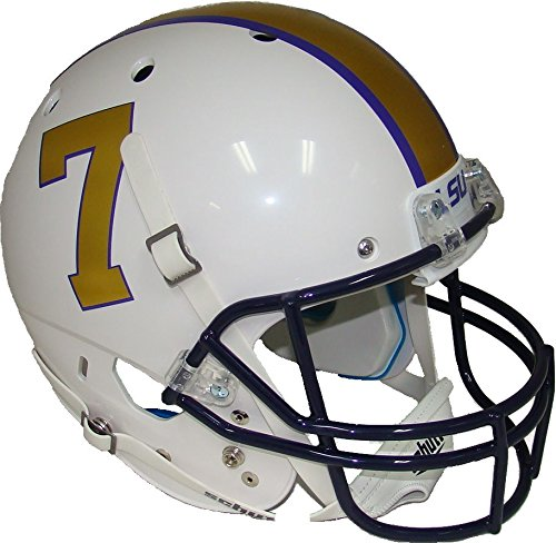 LSU Tigers Alternate Gridiron Gold Schutt Full Size Replica XP Helmet - Lsu Helmet Decal