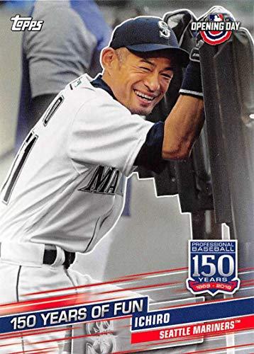 2019 Topps Opening Day 150 Years of Fun Set Baseball #YOF-21 Ichiro Seattle Mariners Official MLB Trading Card