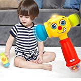 HOMOFY Baby Toys Funny Changeable Hammer Kids Toys for 6 Months up,Multi-function,Lights and Music for Toddlers Infant Boys and Girls 1 2 3 Years Old -Best New Gifts