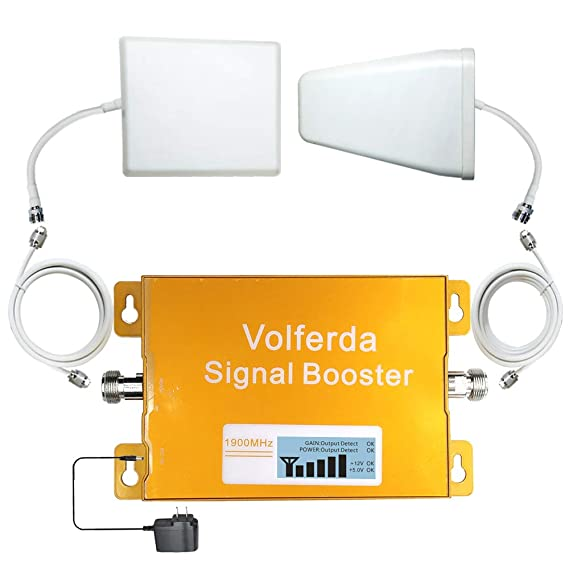 373fb98ff73849 Volferda Cell Phone Signal Booster Band2 1900MHz Reception Booster for  Home&Office 3G/4G T-