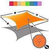 10 foot sun shade - Alion Home 10' x 10' Waterproof Woven Sun Shade Sail in Vibrant Colors (Tangerine Orange)