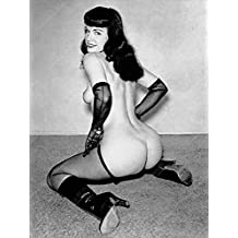 """Vintage Bettie Page Pin Up Print Digitally Remastered 18"""" x 24"""""""
