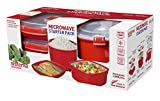 rice steamer microwave - Sistema 1130 Microwave Cookware Starter Pack Includes Plate Steamer and Rice Steamer, Red