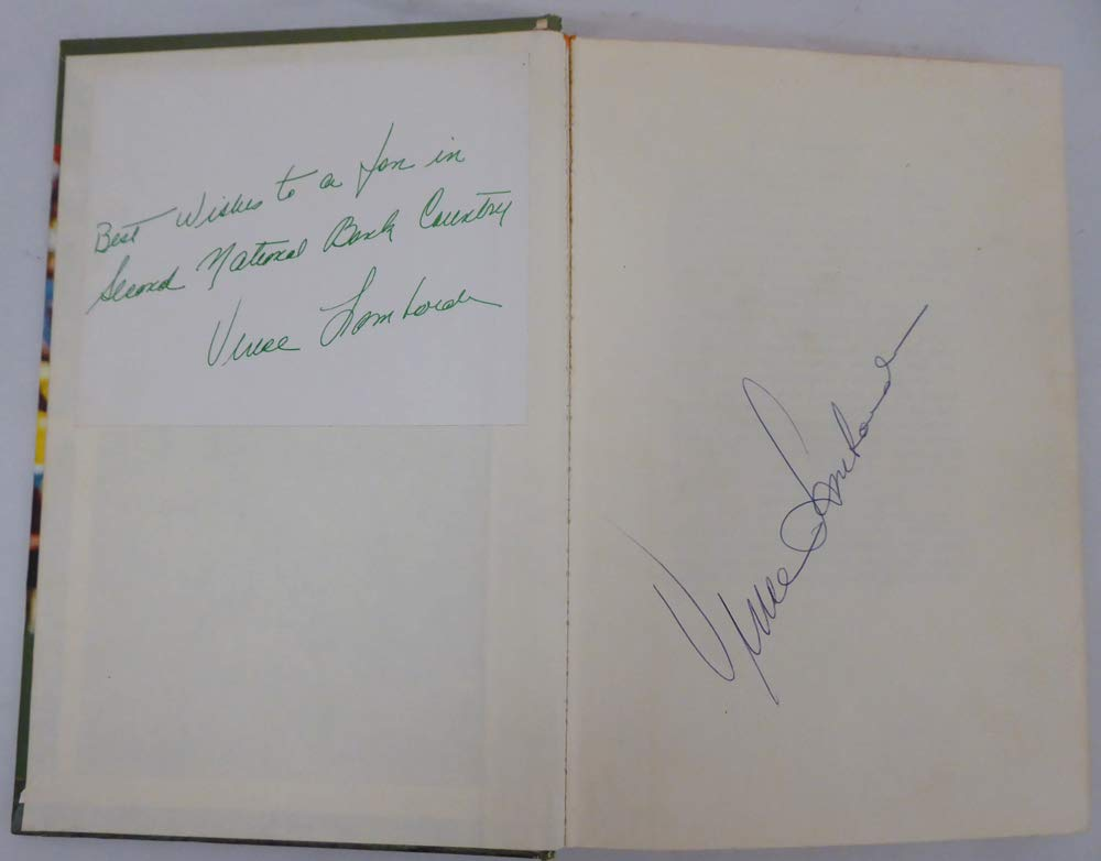 Vince Lombardi Autographed Book Green Bay Packers JSA Authentic