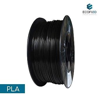 ecofil3d filamento 3d pla negro 1.75 mm 1 kg para impresora 3d ...