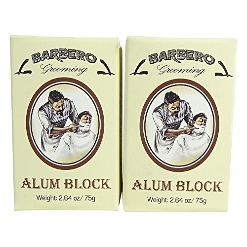 Barbero Alum Block 2.64 oz / 75 g Pack of 2 by Barbero