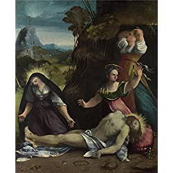 Perfect Effect Canvas ,the Vivid Art Decorative Prints On Canvas Of Oil Painting 'Dosso Dossi Lamentation Over The Body Of Christ ', 12 X 15 Inch / 30 X 37 Cm Is Best For Study Gallery Art And Home Gallery Art And Gifts