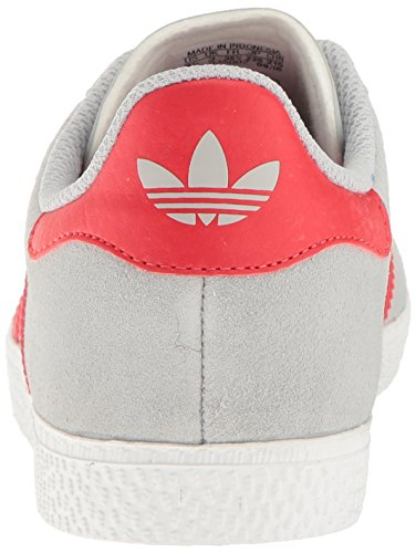 Adidas Youth Gazelle Suede Trainers Clear Onix Red