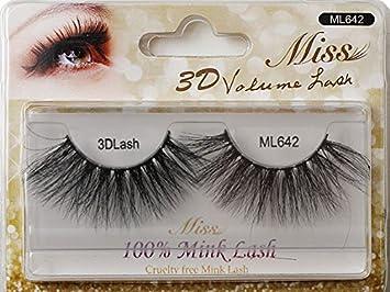 73fb3e56e00 Amazon.com: Miss Lash 100% Handmade Tapered 3D Volume MINK lash ...