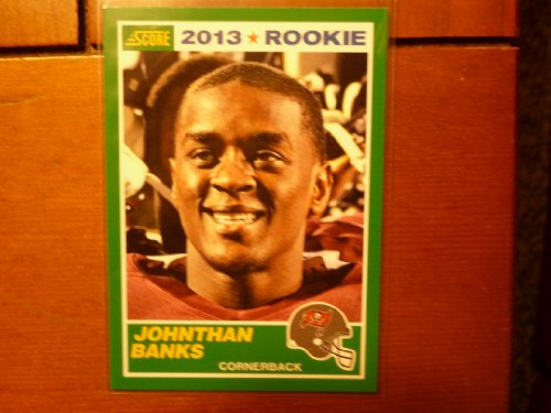 2013 Score #375 Johnthan Banks Trading Card in a Protective Case - Tampa Bay Buccaneers