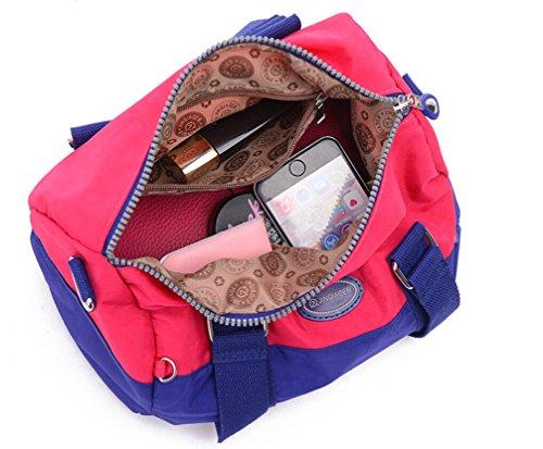 Tiny Chou , in Nylon impermeabile, Borsa Tote a tracolla da viaggio per Teen Girl & donna Multi-colore (Multicolore)