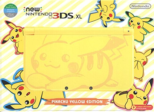 New Nintendo 3DS XL - Pikachu Yellow Edition With US AC-Adapter Pack